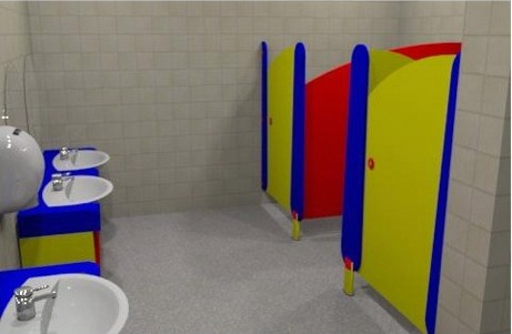 Childrens cubicles, childrens toilet cubicles, nursery toilet cubicles